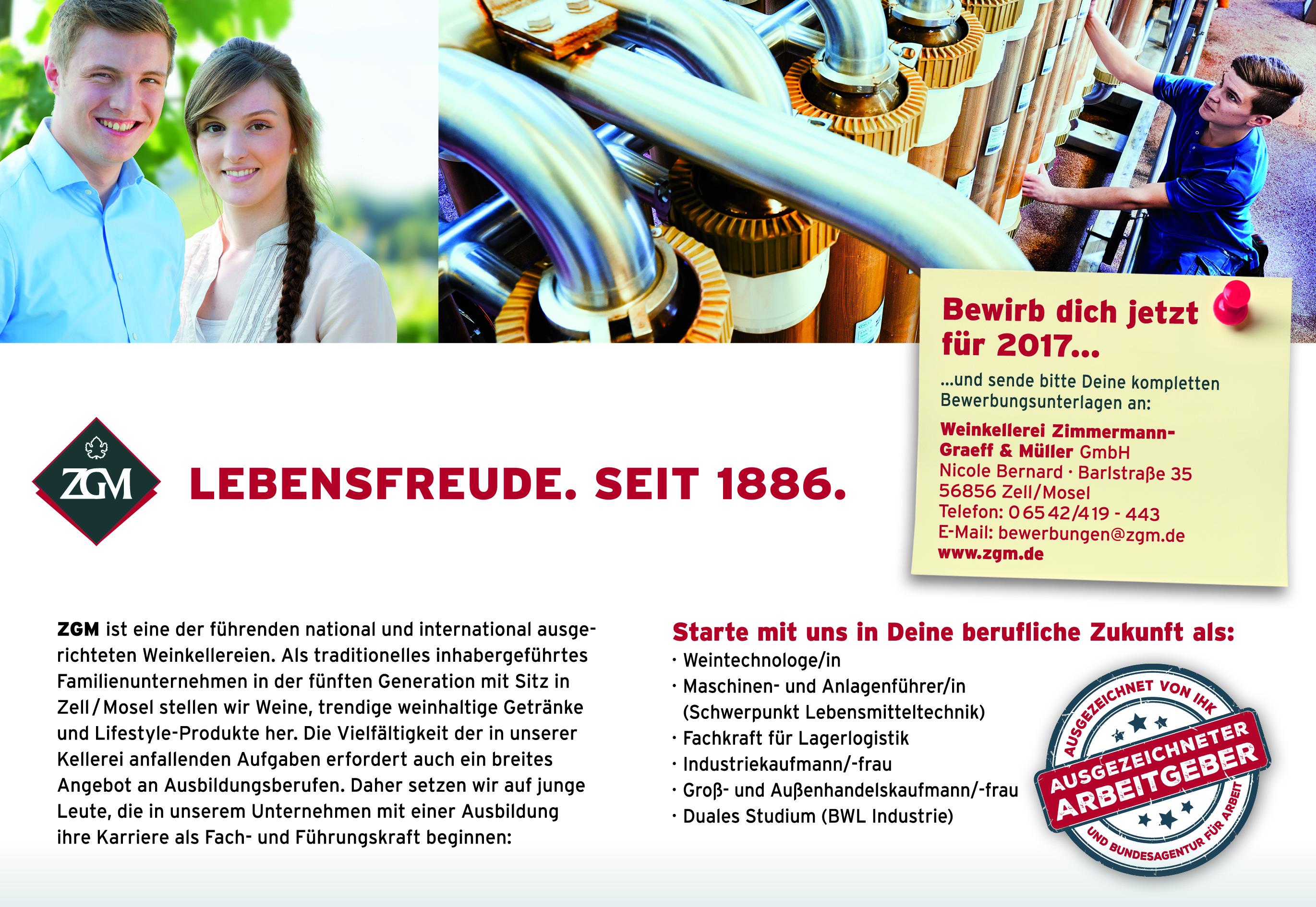 Bewirb Dich jetzt für 2017... - ZGM.de